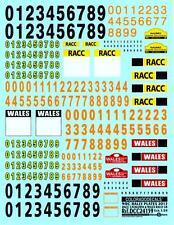 Colorado Decals 1/24 WRC RALLY PLATES 2014 RACC Catalunya & Wales GB