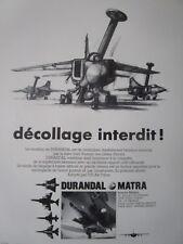 7/1985 PUB MATRA DEFENSE DURANDAL BOMBE ANTI PISTE ARMEE AIR USAF FRENCH AD