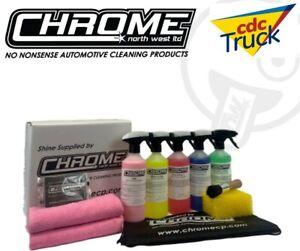Chrome(NW) Pink INTERIOR KIT  5 x 500ml Bottles + Cloths  FREE Postage