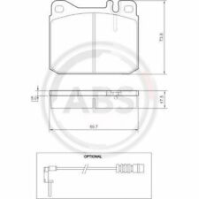 A.B.S. Brake Pad Set, disc brake 36418