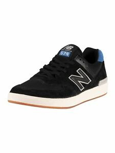 New Balance Men's All Coasts AM574 Suede Trainers, Black