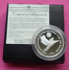 1995  KOOKABURRA  1927 FLORIN PRIVY TWO DOLLAR SILVER 2oz PROOF COIN BOX AND COA