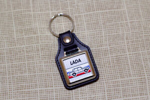 Lada Riva Keyring - VAZ-2105 - AvtoVaz Leatherette and Chrome Keytag