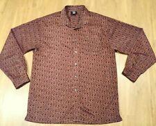 Vtg Fubu Men's xLarge Button Down Red long sleeve shirt Fubu Print