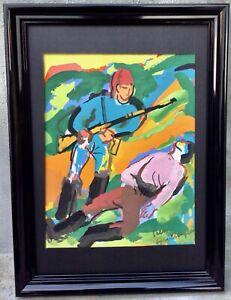PIERRE AMBROGIANI (1907-1985) Gouache originale signée. Bandits Corses.