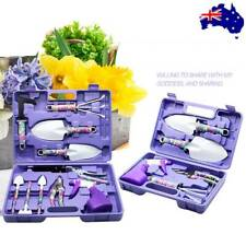 5/10pcs Garden Gardening Hand Tool Kit Set Carrying Case Heavy Duty Stylish AU
