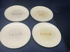 "Mikasa ""CHEERS CONFETTI"" Set/4 Porcelain Dessert Plates BEAUTIFUL"
