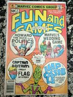 Fun and Games Magazine #4 **RARE CAPTAIN BRITAIN** (Marvel 1979) Bronze Age