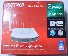 BUFFALO WHR-G54S Wireless-G 125 High Speed Broadband Router & Access Point