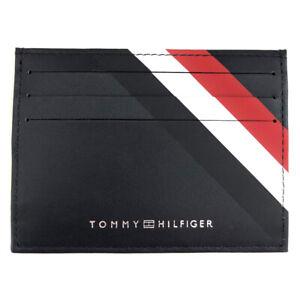 TOMMY HILFIGER Leather Card Holder Case Wallet Gift Boxed
