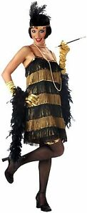 NEW JAZZ TIME HONEY ADULT HALLOWEEN SEXY COSTUME PARTY, BLACK/GOLD MSRP $42.99