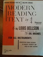 Drum instruction Louis Bellson Modern Reading Text 1963 copyright
