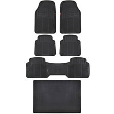 Black Rubber Floor Mats & Liner - For Vehicles w/ 3 Row Seating MOTORTREND