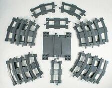 Lot of 21 Lego Duplo TRAIN TRACKS Gray Curved and Straight