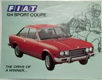 1972 Fiat 124 Sport Coupe The Drive of a Winner Sales Sheet