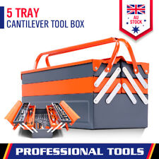 5 Tray Tool Storage Cantilever Box Metal Toolbox Mechanic Chest Organiser Drawer