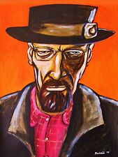 BREAKING BAD PAINTING heisenberg walter white cranston pork pie hat t.v. series