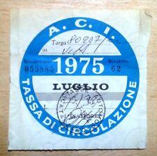 Bollo auto Tassa circolazione 1975
