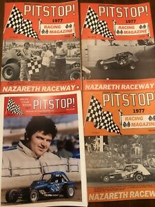 Lot Of 4 1977 Dirt Modified Racing PITSTOP  NAZARETH SPEEDWAY Programs
