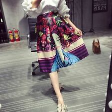 Hand-wash Only Knee-Length Geometric Regular Skirts for Women