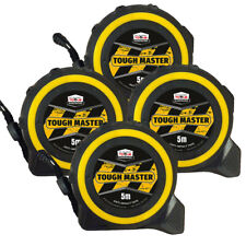 Toughmaster Pocket Tape Measures Metric/Imperial 5M/16ft Anti-Impact Pack of 4