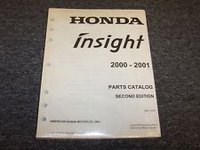 2000-2001 Honda Insight Hatchback Factory Parts Catalog Manual Hybrid 1.0L I3