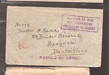 South Africa POW WWI Pietermaritzberg Natal cover (bat)
