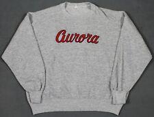 """Champion Vintage Blue Bar Embroidered """"Aurora"""" Crew Neck Sweatshirt Gray XL"""