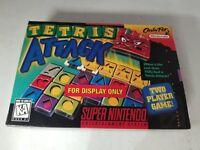 Tetris Attack Officiel super nintendo Snes Pour Écran Seulement Boîte Non Jeu