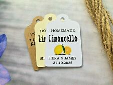 Personalised Alcohol Favour Tag Limoncello Wedding Favour Tags Thank You LS412a