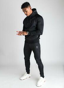 Gym King Basis Poly Tracksuit Top-Black
