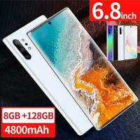 hot Note10 6.8'' Unlocked Smart Phone 8+128G Android 9.1 HD Dual SIM Mobile 4G