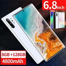 Note10 6.8'' Unlocked Smart Phone 8+128G Android 9.1 HD Dual SIM Mobile 4G Hot
