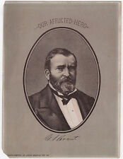"Original 1884-1885 Period Piece ""Our Afflicted Hero"" President U.S. Grant Card"