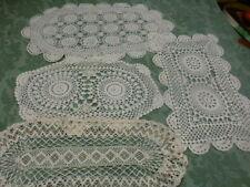 grand lot de napperons faits main crochet coton +un offert