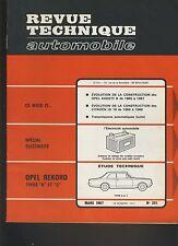 (C6)REVUE TECHNIQUE AUTOMOBILE  OPEL REKORD B et C / CITROEN ID 19