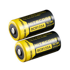 2x Nitecore 16340 650mah NL166 3.7v Protected RCR123 Li-ion Rechargeable Battery