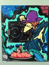 DIKSA ONE-TNB/M70- graffiti signé sur toile - cope2/futura/taki/quik/rd357/seen
