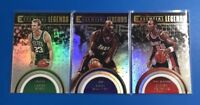 2017-18 Essential Legends Set - Larry Bird, Karl Malone, & Clyde Drexler 3pc LOT