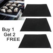 3X Heavy Duty Teflon OVEN LINER Sheet Mat Non Stick Reusable BBQ Cooker UK