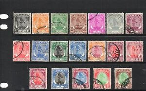 Malaya Selangor 1949 values to $5 good to fine used