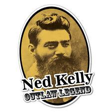 Ned Kelly Oval Sticker Aussie Car Flag 4x4 Funny Ute #5601EN