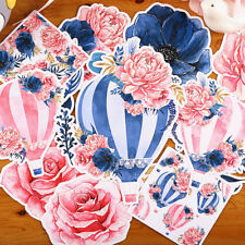 16pcs/lot Hot air balloon with flowers paper sticker Decoration Diy Sticker