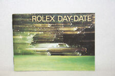 Rolex Day-Date Booklet Owners Instruction Manual Book English 592.56