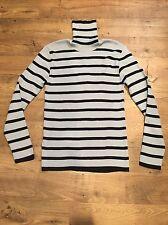 Dolce & Gabbana Men's Blue Navy Striped Wool Blend Turtleneck Sweater Pullover