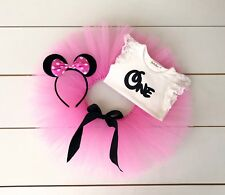 Minnie Mouse Cake Smash Outfit - 3 Piece First Birthday Tutu Set - Baby Girl