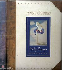 ANNE GEDDES BABY NAMES KEEPSAKE (HC; 1997) BABIES PHOTOGRAPHY ART