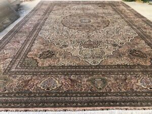 FINE WEAVE PALACE SIZE %100 SILK ORIENTAL RUG HANDKNOTTED IN CHINA