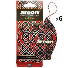 6 x Areon Orient Deodorante per Auto Nero Oud Orientale Profumo Fragranza