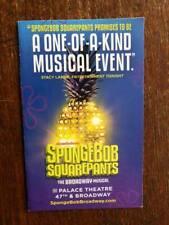 Spongebob  Squarepants mini ad/flyer Broadway NYC  musical